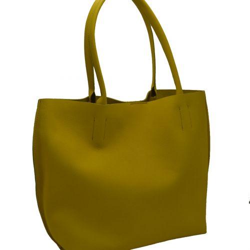 Bolso Annie Piel Ibiza Verde/Amarillo